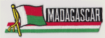 Madagascar Embroidered Flag Patch, style 01.